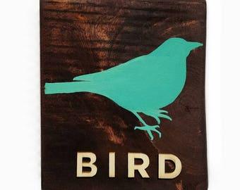 Hand Painted 5 x 6 Bird Nursery Wall Decor