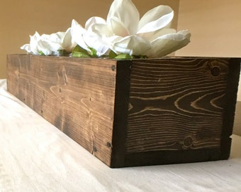 Rustic spruce wood box Centerpiece, thanksgiving decor, Christmas decor, Centerpiece Box, Planter Box, Table Centerpiece, rustic, wedding