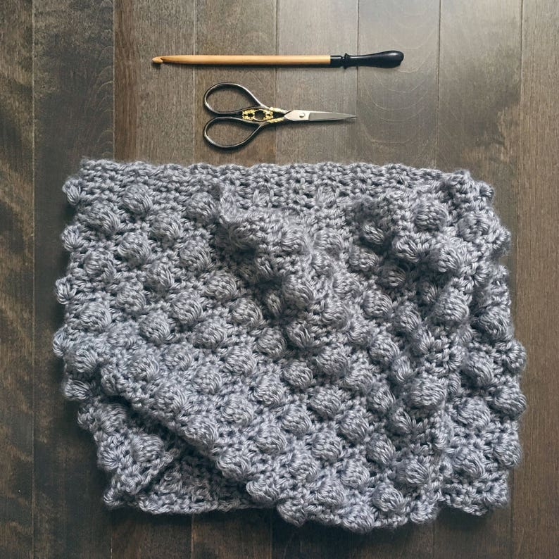 READY TO SHIP . bubble cowl . hand crocheted . vegan . super image 0