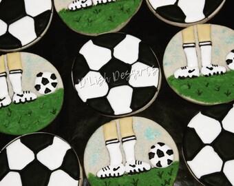 Soccer, Decorated Sugar Cookies One Dozen