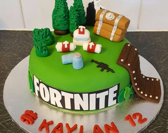 edible fondant fortnite game cake toppers - fortnite images for cake