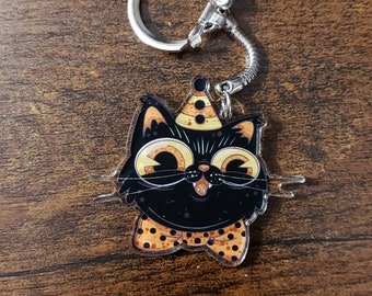 Kitty Keychain Etsy