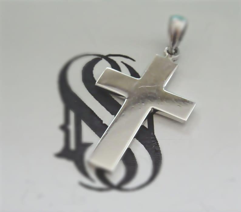 Skinny Gold Cross Necklace Gold Cross Pendant Solid Gold 14K  White  Gold Cross Necklace Simple