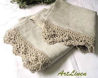 2 Double Hand Crochet Premium Heavy Towels by Cathy ~ BEERS