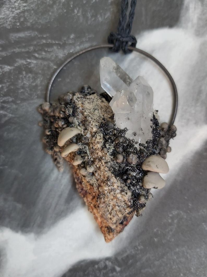 Stone Shelf fungus Witch pendant