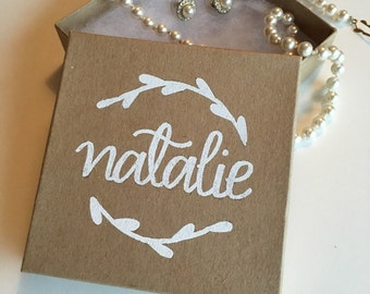 Custom name tags personalized easter tag personalized gift personalized gift box personalized jewelry box bridesmaid jewelry box bridesmaid proposal custom gift box bridesmaid gift negle Image collections