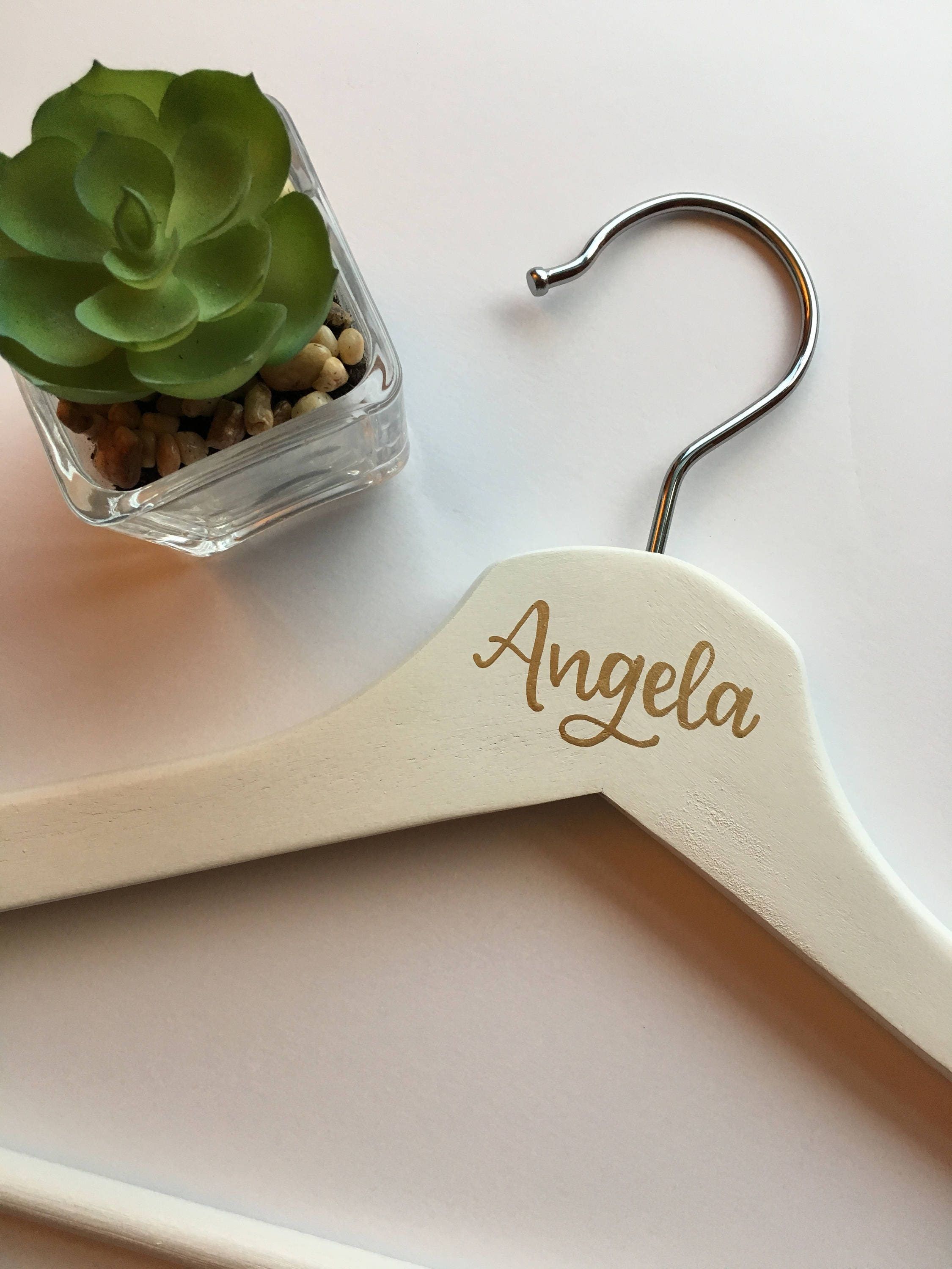 image Personalized White Bride or Bridesmaid Hanger