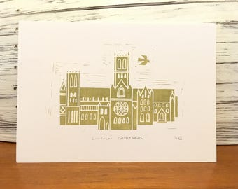 Lincoln Cathedral Print