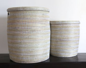 African basket // Medimu// African basket // Laundry basket // Wicker basket // Deconature // Decoboho // Decoafrica // White