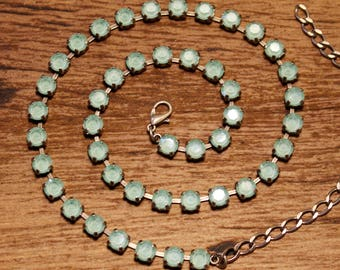 Swarovski 6mm Mint Necklace