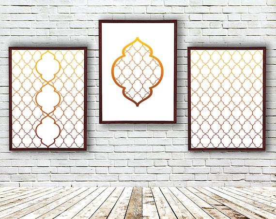 Moderne Wohnzimmer Wandkunst Geometrische Bilder | Etsy