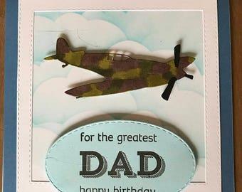 Handmade Spitfire Card
