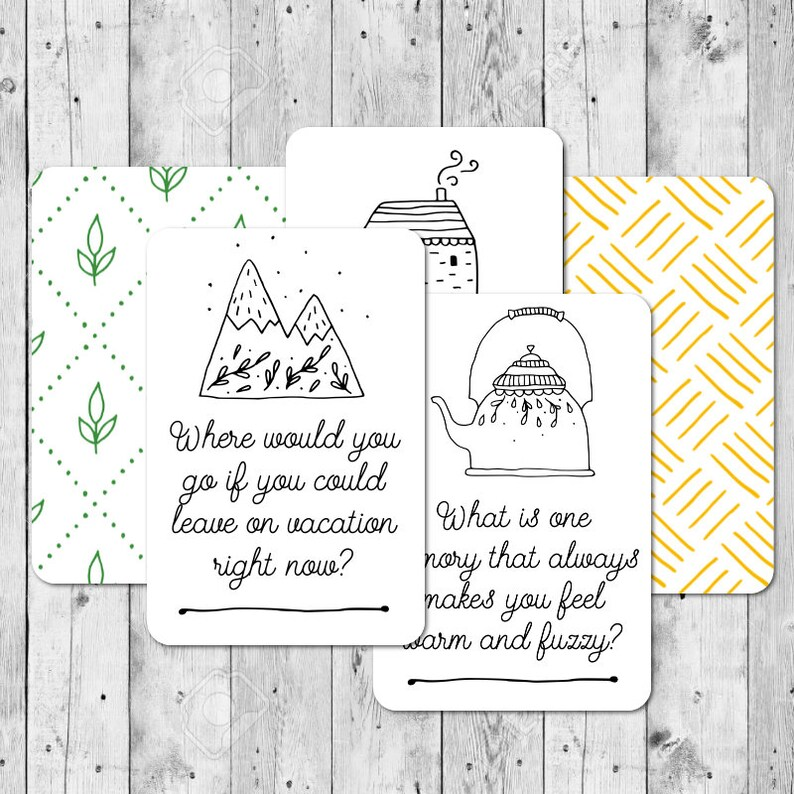 DIY Printable Cozy Date Night Cards  Date Night Question image 0