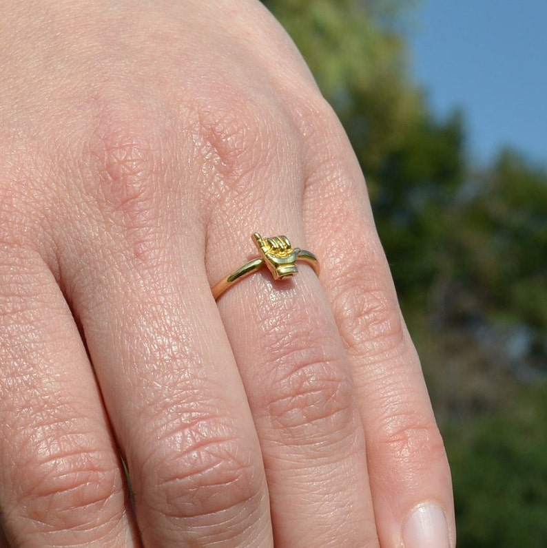 Hang Loose Cute Hawaii Jewelry Surfer gift Shaka Ring