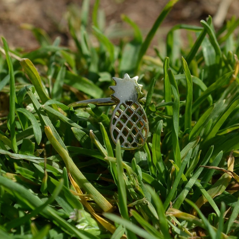 Sterling Silver pineapple Midi Cute Stacking