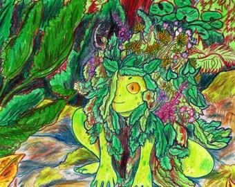 Hag Weed - A5 Original Drawing