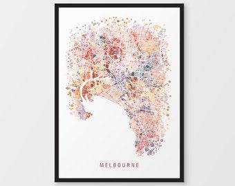 melbourne map australia