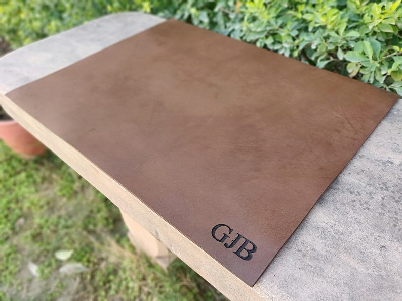 Desk Pad, Schreibtischunterlage, Leather Desk Blotter, Leather Desk Mat