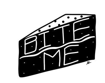 Bite Me Blank Greeting Card