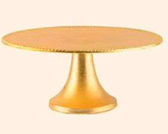Gold cake stand, 14 inch, 16 inch, 18 inch, 22 inch wood gold stand, wedding gold stand, disressed gold stand