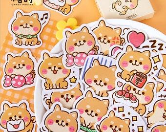Kawaii Stickers Pretty Dogs Puppies Diary Journal Scrapbook Planner Supplies