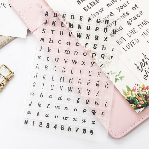 Letters Stamp Alphabet Capital Lowercase