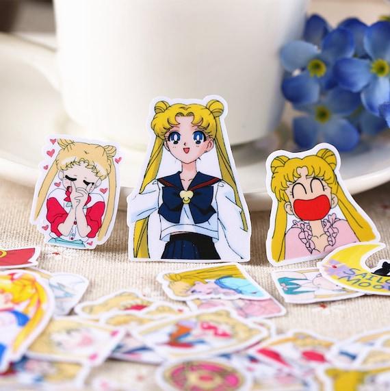 36pcs, Sailor Moon Stickers, Animation, Planner Sticker, kawaii stationary, Scrapbook Sticker, journal, cute, Sticker set