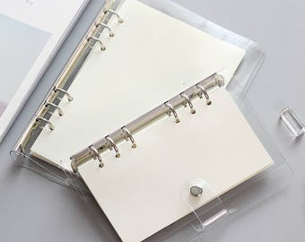 A5 Planner Binder, planner cover, personal size, 6 ring binder, back to school supplies, school supplies, refill, organizer, clear binder