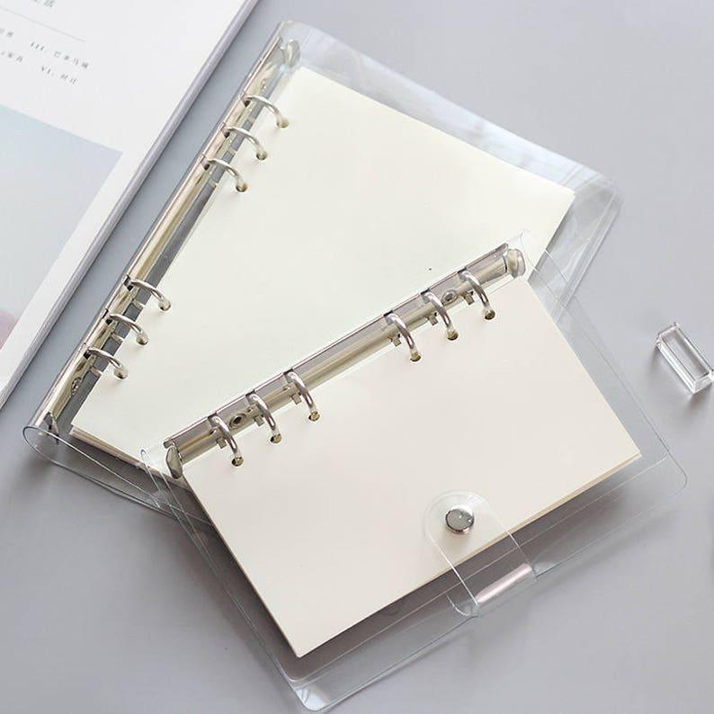 photograph regarding A5 Planner Binder named A5 Planner Binder, planner deal with, specific sizing, 6 ring binder, bookmark ruler, refill planner, planner organizer, crystal clear binder