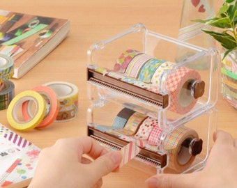 Washi tape cutter, Washi tape organizer, holder, storage, Washi Tape Dispenser, Masking Tape, Storage Box, Case, collection, Tape Dispenser