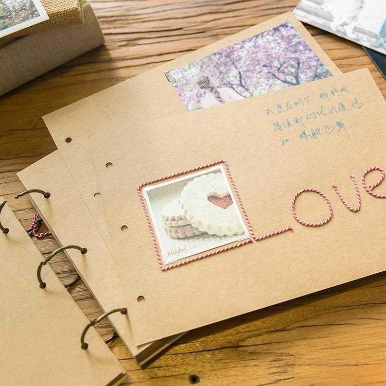 Photo Album, Kraft Photo Album, scrapbook album, DIY, 3 Ring Binder, blank  scrapbook Album, Wedding Album, Baby photo Album, kraft paper
