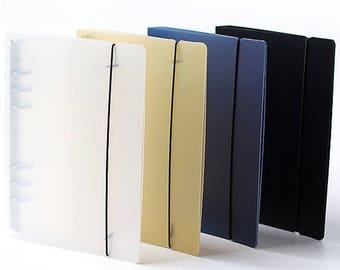 A5 Planner Binder, planner cover, black planner binder, 6 ring binder, refillable planner, travel journal, planner organizer, Day planner