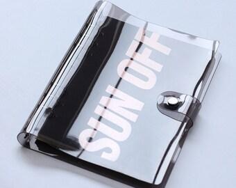 A5 Planner Binder, planner cover, personal size, black, a5 planner binder, 6 ring binder, bookmark ruler, refill planner, planner organizer