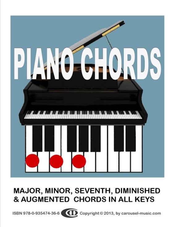 Piano Chords How To Play Them By Carousel Music Etsy