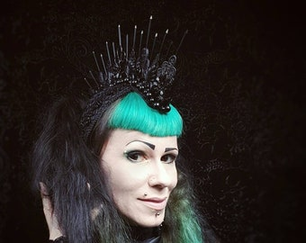 "Big Metal Mohawk ""Amazone II."", Warrior Headpiece, Warrior,Shaman Headdress, in different colors/ Made to Order"