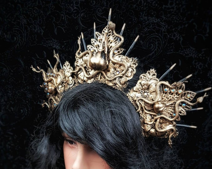 Raven snakes Headpiece, Medusa costume, Medusa crown, available in different colors/MADE TO ORDER