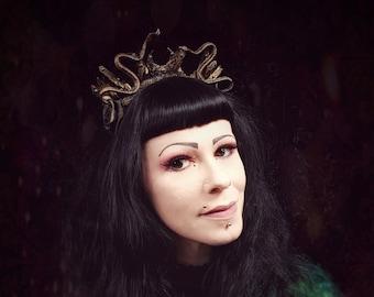Medusa crystal crown Headpiece,  Schlangen Kristal Krone, Medusa Kopfschmuck