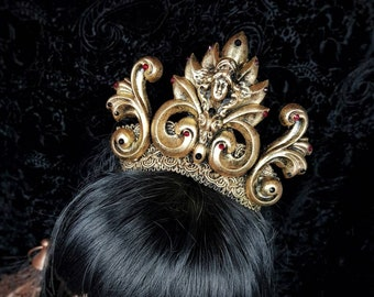 Holy Baroque Crown, gothic headpiece, gothic crown, halo crown, gothic headdress in different colours available/ Made to order