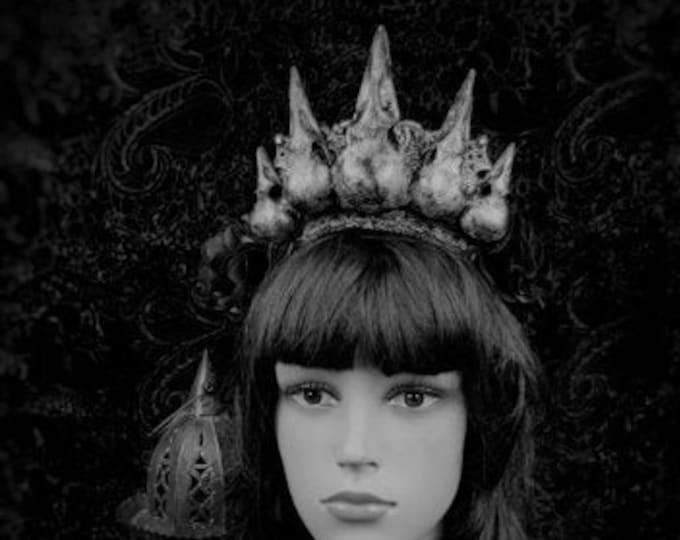 READY TO SHIP / Gothic crown, Raven headpiece, crow crown,  gothic headpiece in plain black