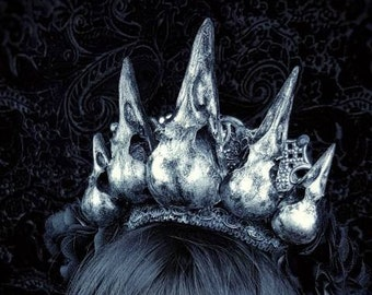 Gothic crown, Raven headpiece, crow crown, gothic headpiece in different colors available, made to order