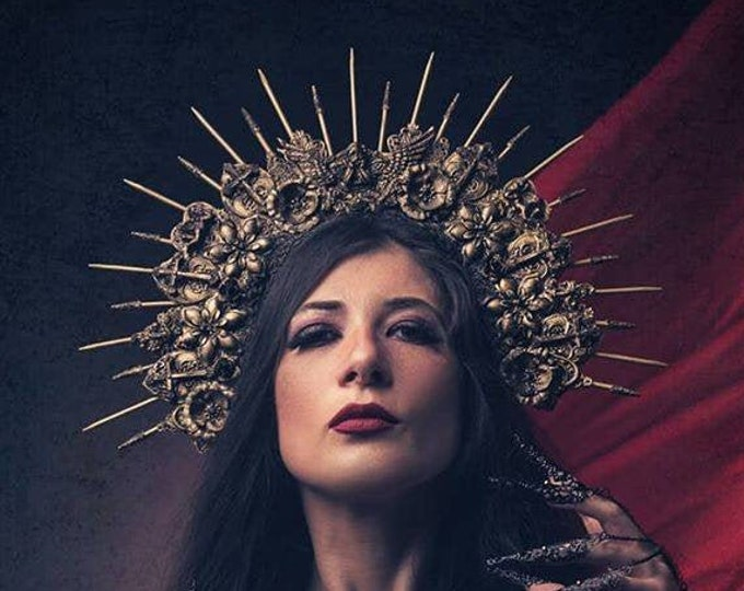 """Gothic headpiece, Halo headpiece """" Holy cross"""" in different  colors available,  großes Engel Halo Kopfschmuck /MADE TO ORDER"""