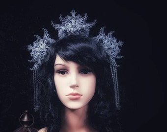 Jeanne d'Arc Crown Halo Headpiece, Holy Headdress, available in different colors/ MADE TO ORDER