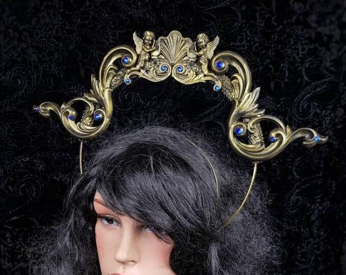 Heiligenschein Aphrodite, Halo, gothic crown, gothic headpiece, goth headpiece, holy crown, goth crown, cosplay, medusa / Made to order