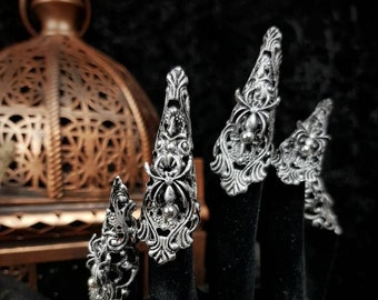 """10 pieces finger claws """" Spider """", metal claws, fingerclaws, medusa, available in different colors, metal claws, finger claws,"""