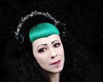 Ready to ship, halo headband, halo, Vampire Crown, Gothic Headpiece, Bat Headpiece, holy crown, holy headband, goth crown