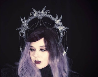 Vampire, halo headband, halo, gothic crown, gothic headpiece, gothic headdress, holy crown, goth crown / Made to order