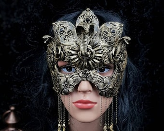 Cleopatra mask, blind mask, Snake mask, Cleopatra Headpiece, Medusa costume, fantasy costume, available in different colors