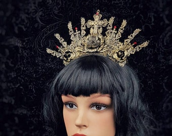 Gothic Crown, gothic headpiece, gothic headdress in different colours available/Gothic Krone