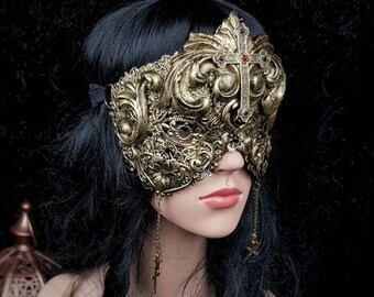Baroque, blind mask, fantasy mask, gothic mask, gothic headpiece, religious mask, goth crown, available in different colors