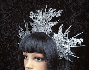 The rise of the phoenix,Halo Headpiece, in different colours and crystals /MADE TO ORDER